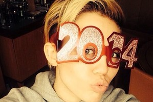A Miley Cyrus selfie, twerking not included. Photo / Instagram