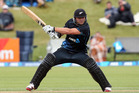 Black Cap Corey Anderson, on his way to the fastest one day cricket century ever. Photo / Getty Images