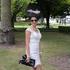 Sybele Nakhle: Occupation: Mother. Dress: Sherri Hill. Sunglasses: RayBan. Hat: Natalie Chan. Shoes:Vintage. Bag: Chanel.