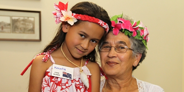 Kaiata Kaitoa and her grandmother Berry Rangi enjoyed the cultural gathering together.