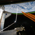 Aurora Australis or the Southern Lights can be seen on Earth's horizon looking past the docked space shuttle and Atlantis' cargo bay. Photo / NASA