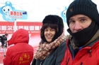Lisa and Jim Walsh in Harbin  Photo/Supplied