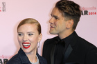 Scarlett Johanssonwith her partner Romain Dauriac. The pair are reportedly expecting their first child together. Photo/AP