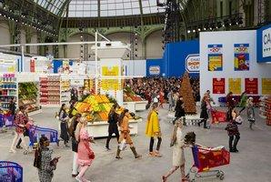 Shop 'til you drop? The supermarket set at Chanel's Fall/Winter 2014 presentation. Photo / Olivier Saillant