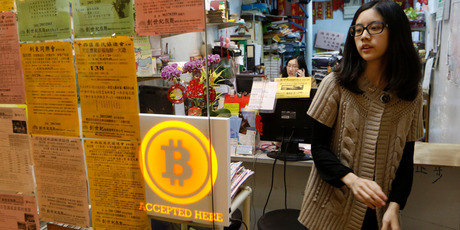 The world's first bitcoin retail store opened in Hong Kong on Friday, despite the virtual currency facing much scrutiny over the last week. Photo / AP