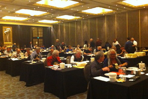 Judging cheese at The Langham. Photo / Nici Wickes
