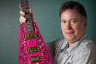 Mechatronics professor Olaf Diegel specialises in 3D printing and makes his own electric guitars. Photo / NZ Herald