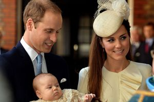 Prince William and Catherine, the Duchess of Cambridge, with Prince George. Photo / AP