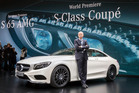 Mercedes-Benz CEO Dr Dieter Zetsche in Geneva, and (below) the new S 65 AMG, S 600 and all new S-Class coupe