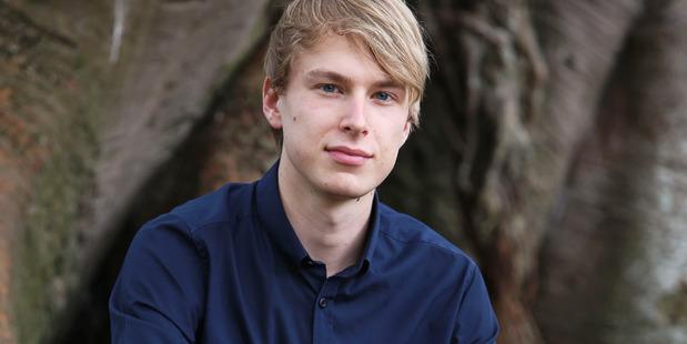 Auckland University student of film and politics Ben Atkins. Photo / Chris Loufte