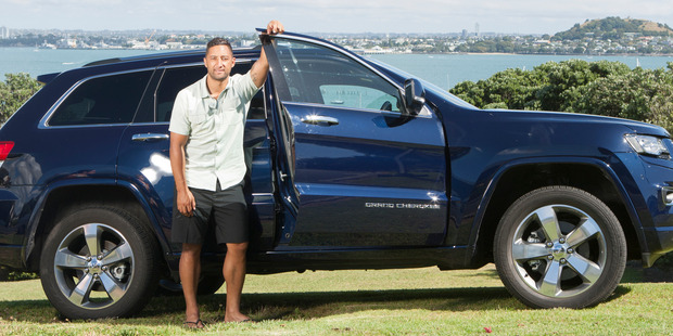 Benji Marshall is a Jeep New Zealand ambassador and drives a Grand Cherokee Overland diesel - blue of course! Pictures / Michelle Hyslop