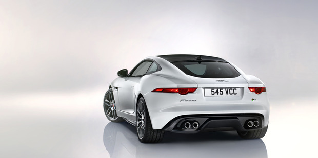 The Jaguar F-Type Coupe arrives in New Zealand in July.