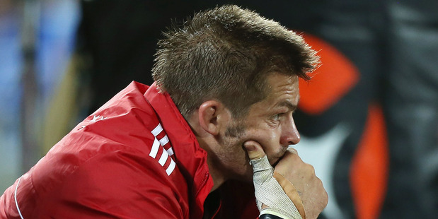 Richie McCaw faces a lay-off of two months at least after inevitable thumb surgery. Photo / Getty Images