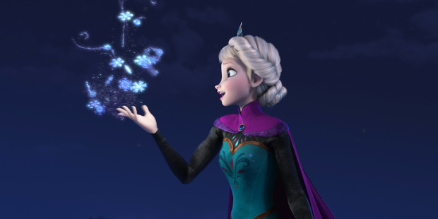 Elsa the Snow Queen, voiced by Idina Menzel, in the Oscar winning animated feature 'Frozen'. Photo / AP