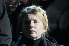 Former Ukrainian prime minister Yulia Tymoshenko addresses a crowd in central Kiev. Photo / AP