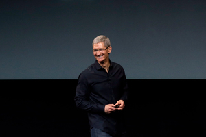 Tim Cook told members of a think tank that Apple did a lot of things not driven by profit. Photo / AP