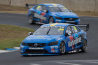 The Volvo S60 V8 Supercar of Scott McLaughlin made it onto the podium in just its second race. Photo / Supplied