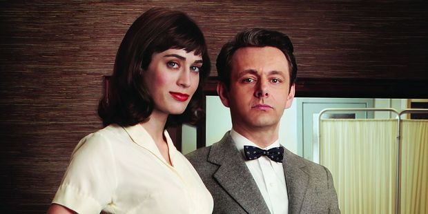 Lizzy Caplan and Michael Sheen in 'Masters of Sex'.