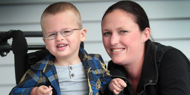 Amy Dyer's 4-year-old son Liam has a rare and incurable disease. Photo / HOS