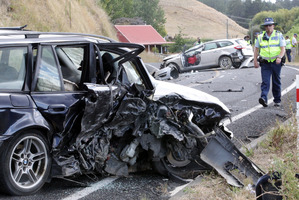 A 25-year-old woman was killed in a two car crash yesterday afternoon near  Maraekakaho. Photo/Paul Taylor