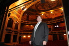 Chris O'Reilly, chairman of the Hawkes Bay opera house in Hastings. Pictured at the theatre after a press conference to announce the immediate closure.