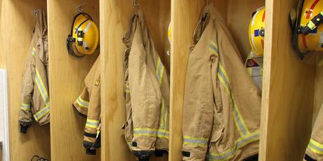 Firefighters lockers at the new Katikati station