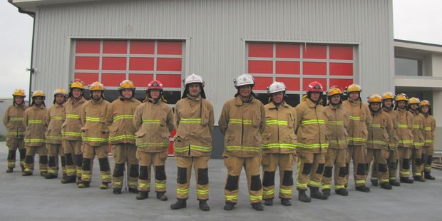 Katikati Volunteer Fire Brigade members look forward to serving the community at the new fire station