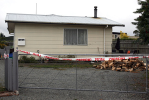 The home at 14 George Street in Masterton, where it is believed Caleb Skinner, 2, was allegedly assaulted.