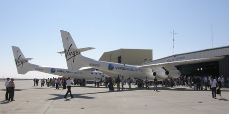 Virgin Galactic's WhiteKnightTwo the mother ship and launch-platform for the spacecraft SpaceShipTwo. Photo / Wikipedia - Akradecki