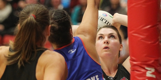 Magic shooter Ellen Halpenny's shooting average was 91 per cent in the opening round win over Tactix. Photo/Mark McKeown