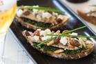 Flame-grilled sardines, pinoli, feta and white raisins from Baduzzi. Photo / NZH