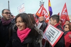 Mayoral Socialist candidate Anne Hidalgo is accused of trying too hard. Photo / AP