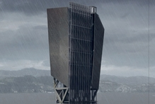 Hayden Grindell's data tower in Wellington Harbour.