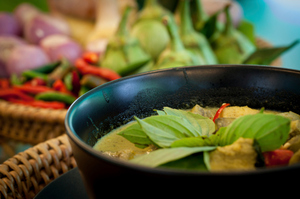 Garnish with basil and chilli. Photo/Thinkstock