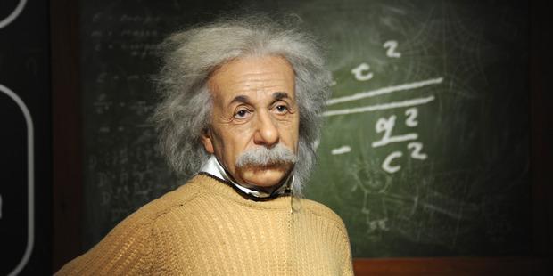 The wax figure of Albert Einstein as seen at Madame Tussauds, Vienna. Photo / Getty Images