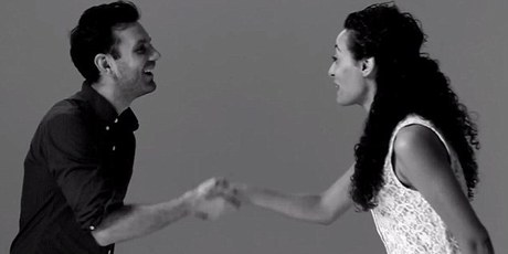 One couple awkwardly introduce themselves before locking lips. Photo / Tatia Lpilleva, YouTube