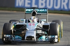 Lewis Hamilton of Mercedes clocked the fastest time at practice. Photo / AP