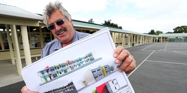 Principal Pat Newman is excited to see the new construction and what it can bring to Hora Hora School.Photo/John Stone