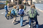 The number of kids walking and cycling to primary and intermediate schools has fallen sharply. Photo / Thinkstock