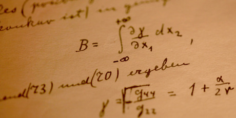 A detail from Albert Einstein's General Theory of Relativity. Photo / Getty Images