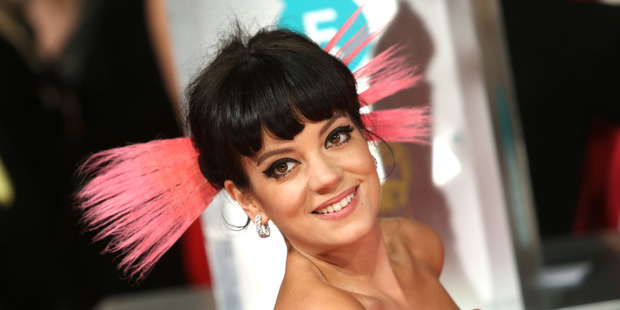 Lily Allen has called her new music 'so disappointing'. Photo/AP.