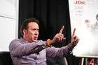 Nicholas Cage speaks at SXSW in Austin, Texas. Photo/AP.