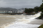Steve Western took this great photo of Paihia's waterfront being struck by Cyclone Lusi.
