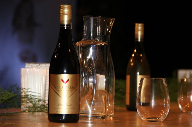 Guests drank a selection of wines from Villa Maria. Photo / Babiche Martens