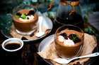 Coffee and chocolate mousse with coffee mascarpone. Photo / Babiche Martens.