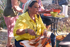 Renowned chef, Rawia Bishara. Photo / Peter Cassidy.