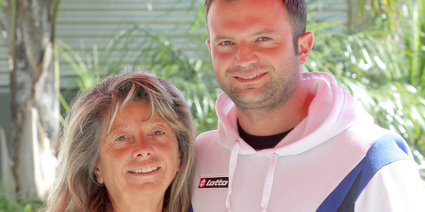 Marco Fabrin and his mother Oriana Disaro outside their in apartment in Mount Maunganui. PHOTO/RUTH KEBER