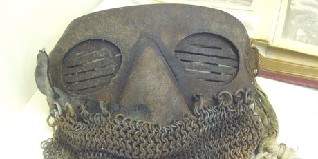 Protective mask for tank crew.