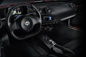 The interior of the Alfa Romeo 4C.