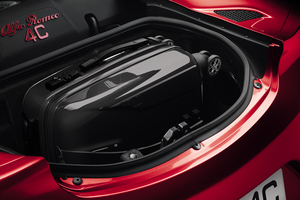 The boot space of the Alfa Romeo 4C.
